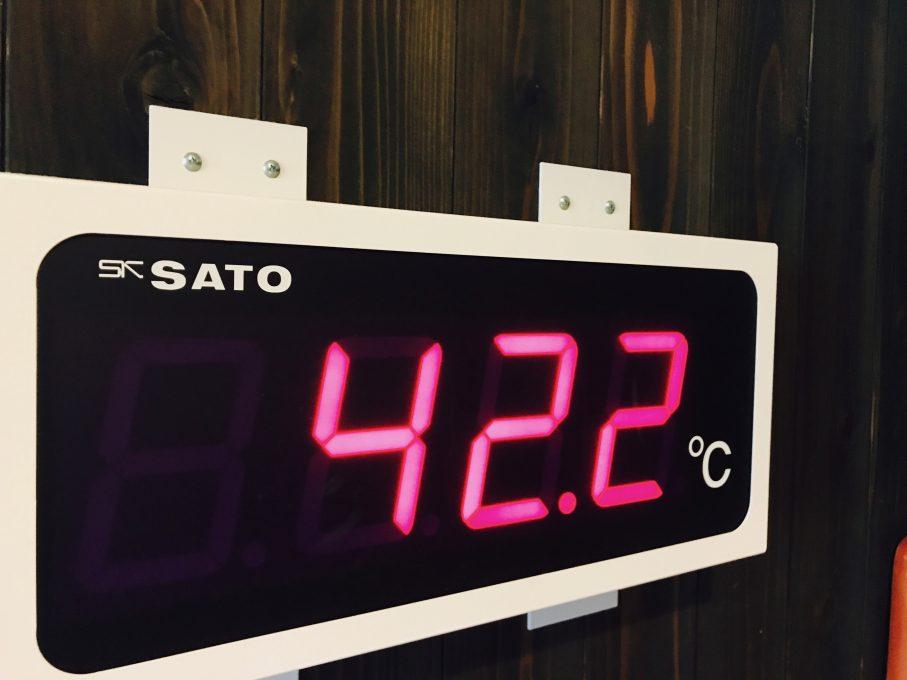 昭和温泉しらかば荘のお風呂の温度