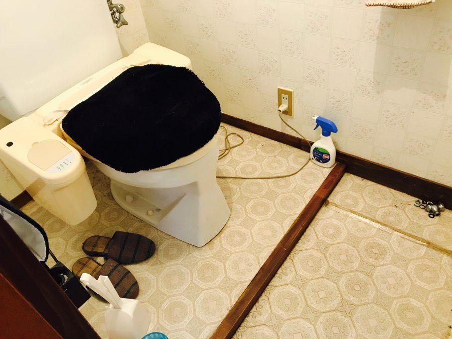 トイレのクッションフロアの劣化