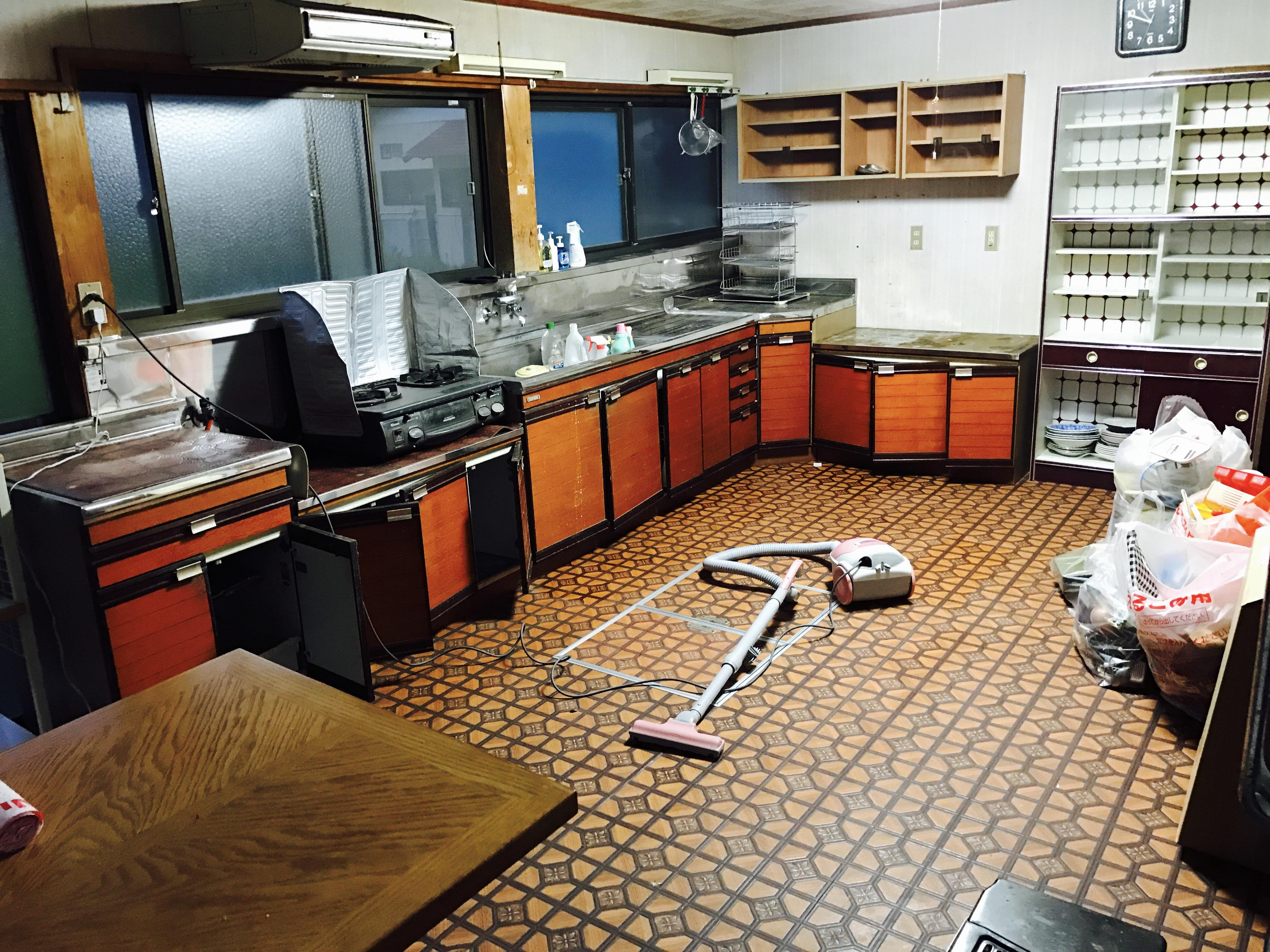 古民家のキッチンの改修前