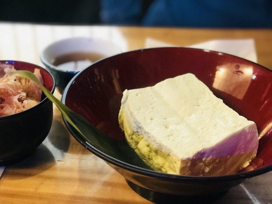 幻の青ばと豆腐