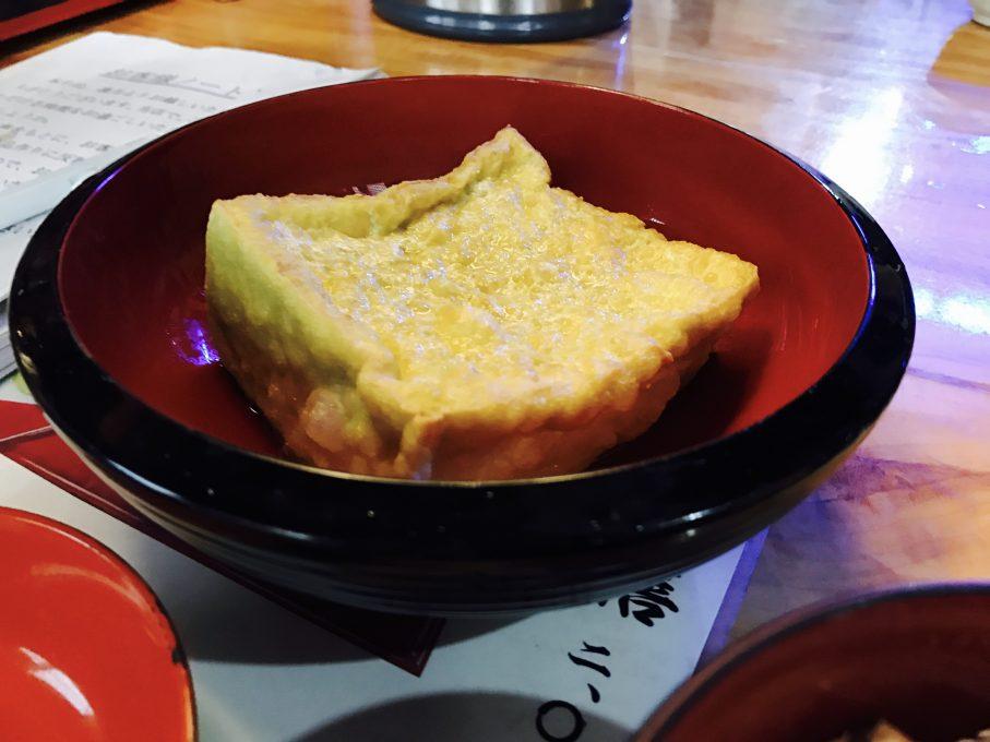 玉梨とうふ茶屋のジャンボ生揚げ