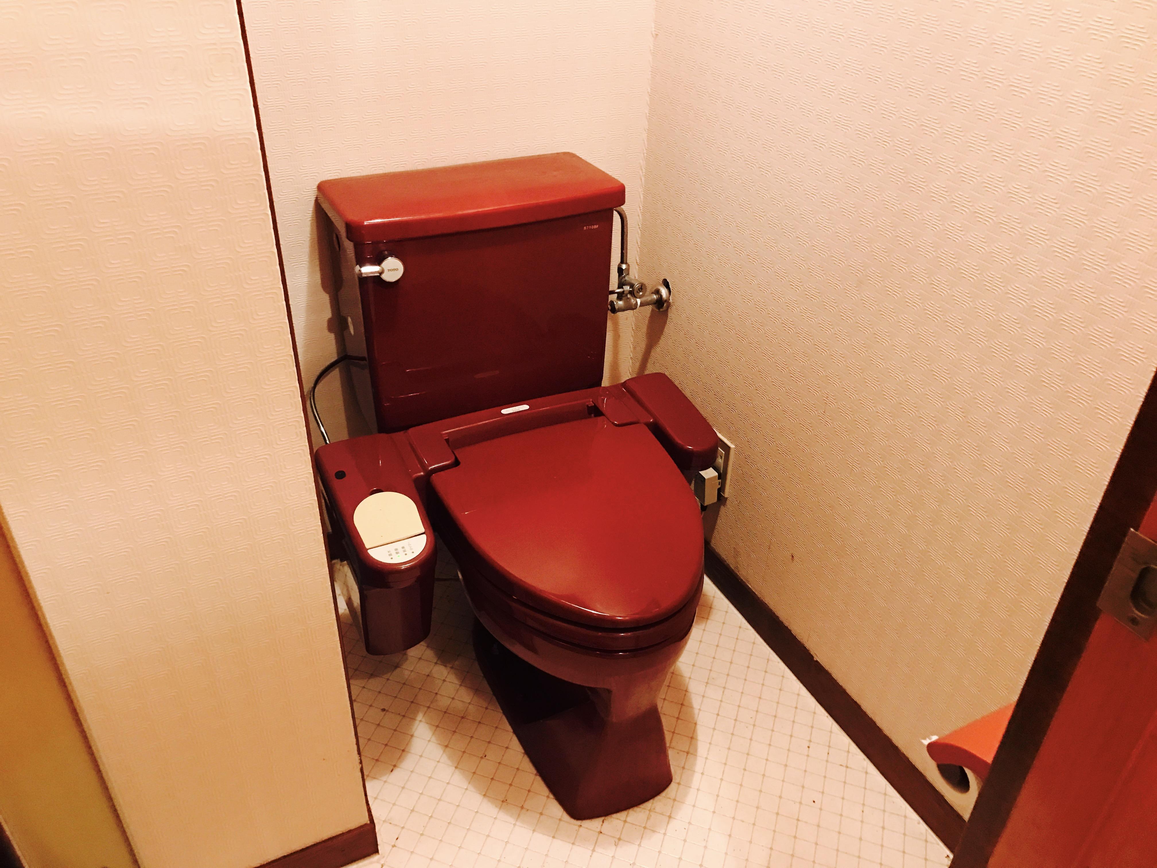 古民家の洋式トイレ