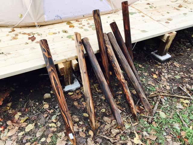 木道を作るための杭