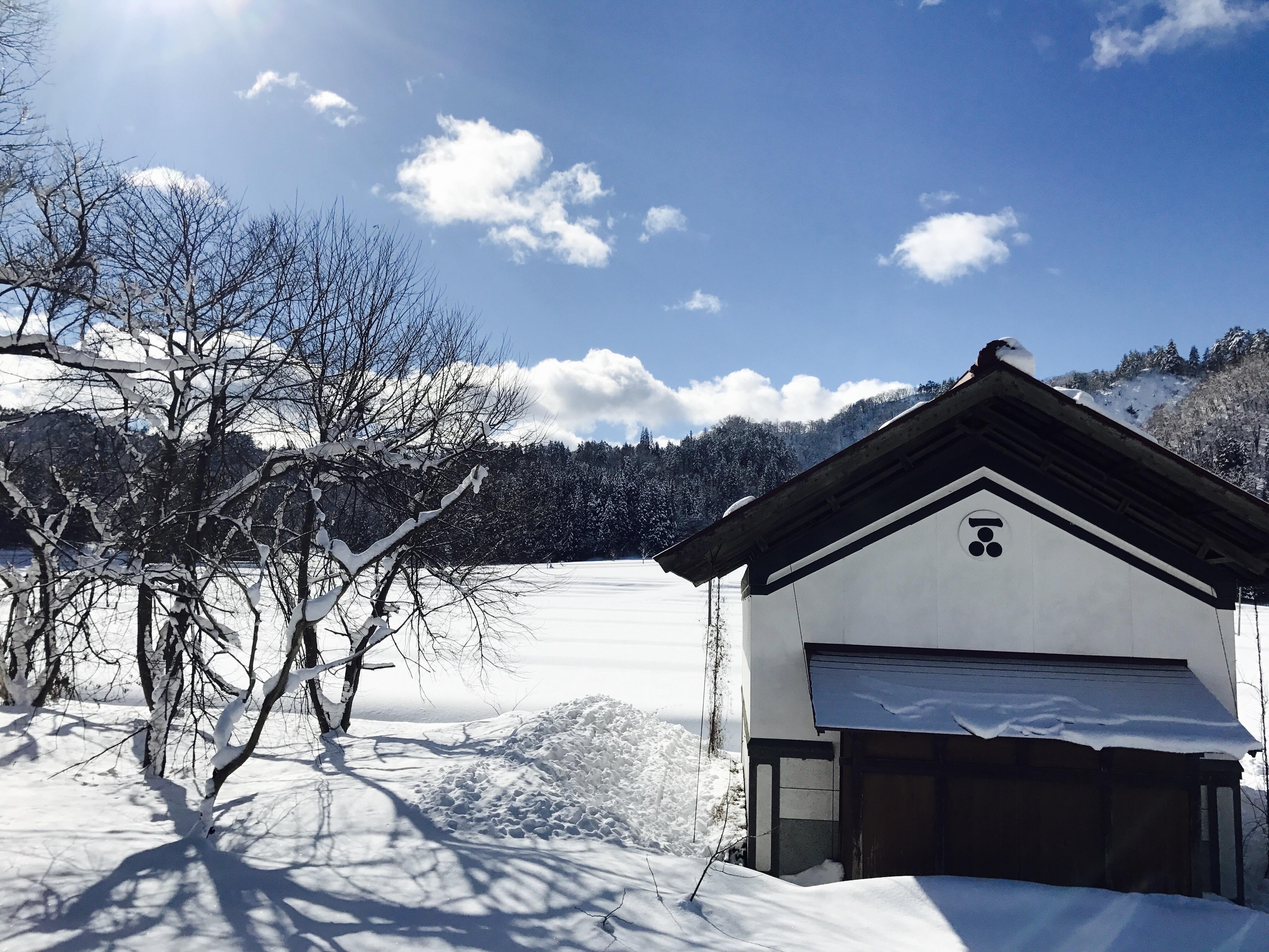 古民家からの雪景色