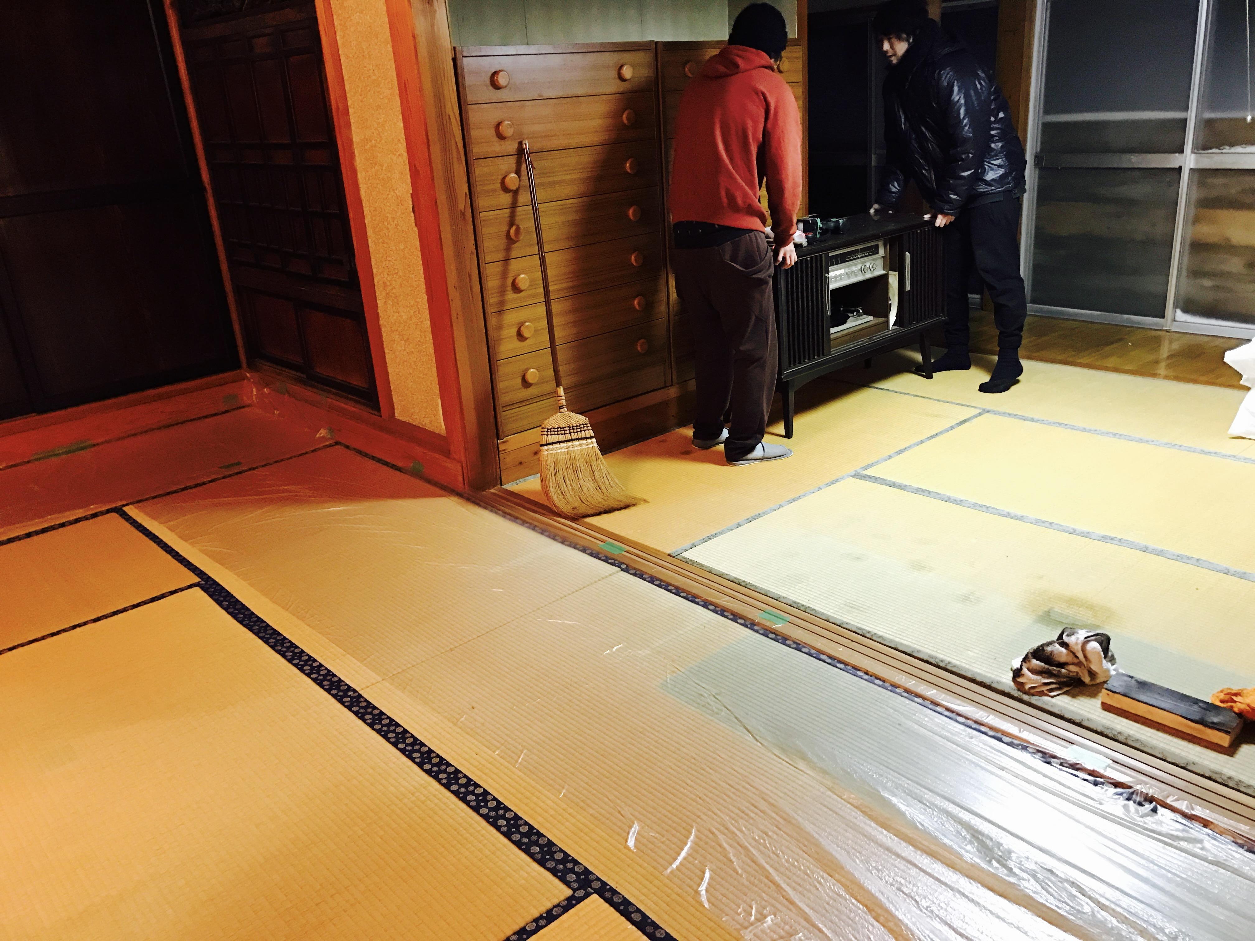 古民家の内装塗装の準備