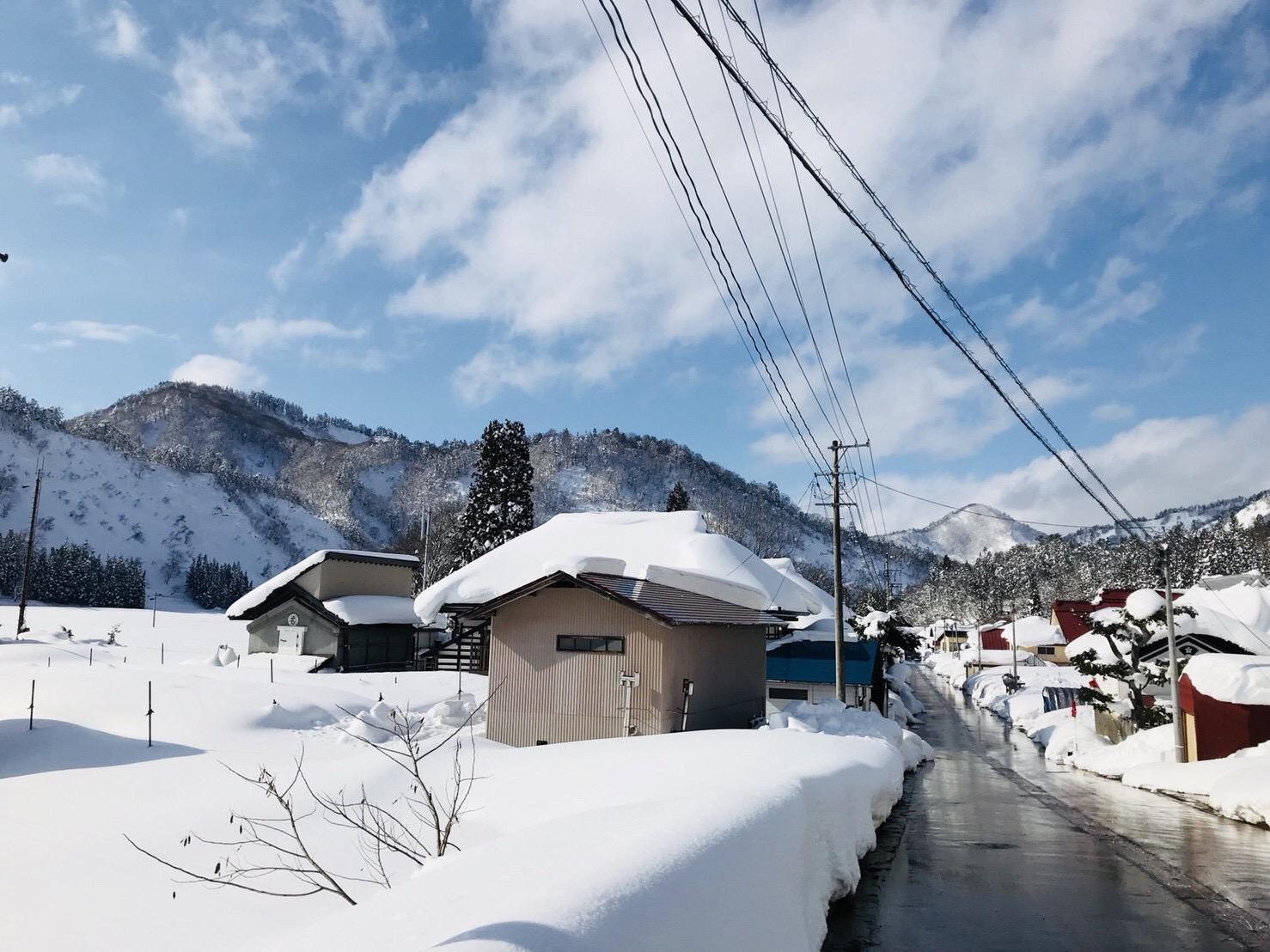 冬の昭和村の雪景色