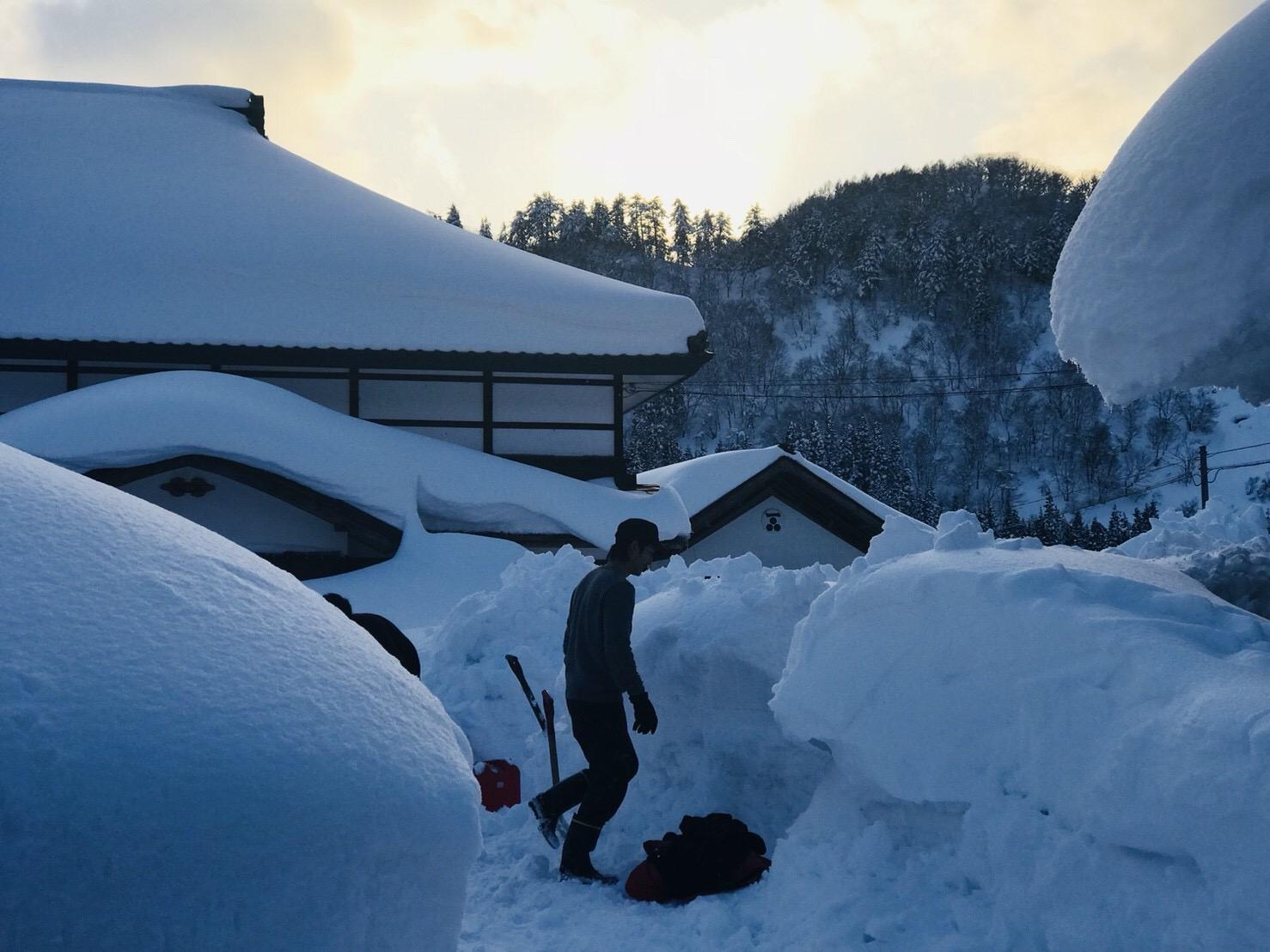 福島県昭和村の雪