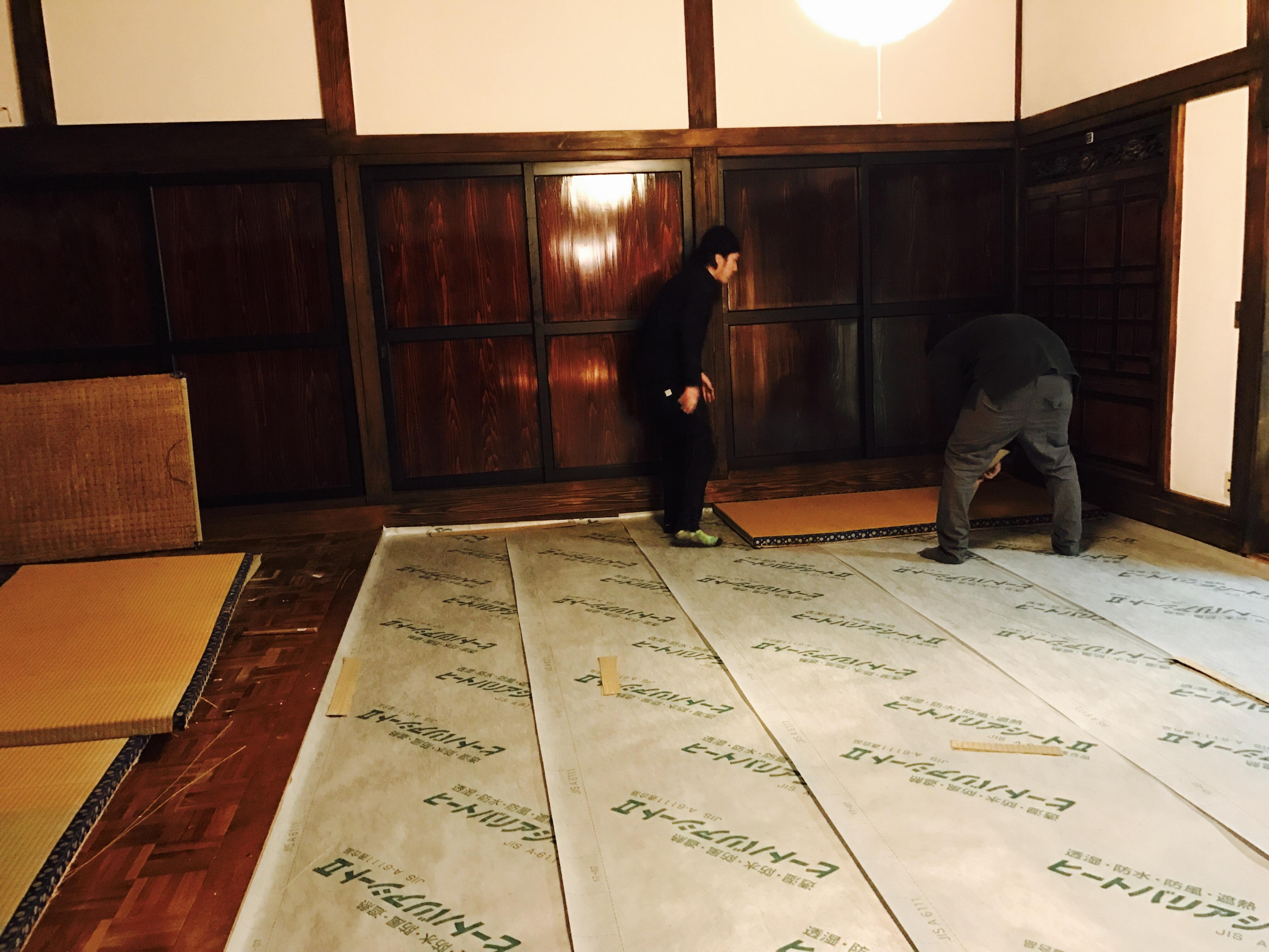 断熱シートを畳の下に敷く