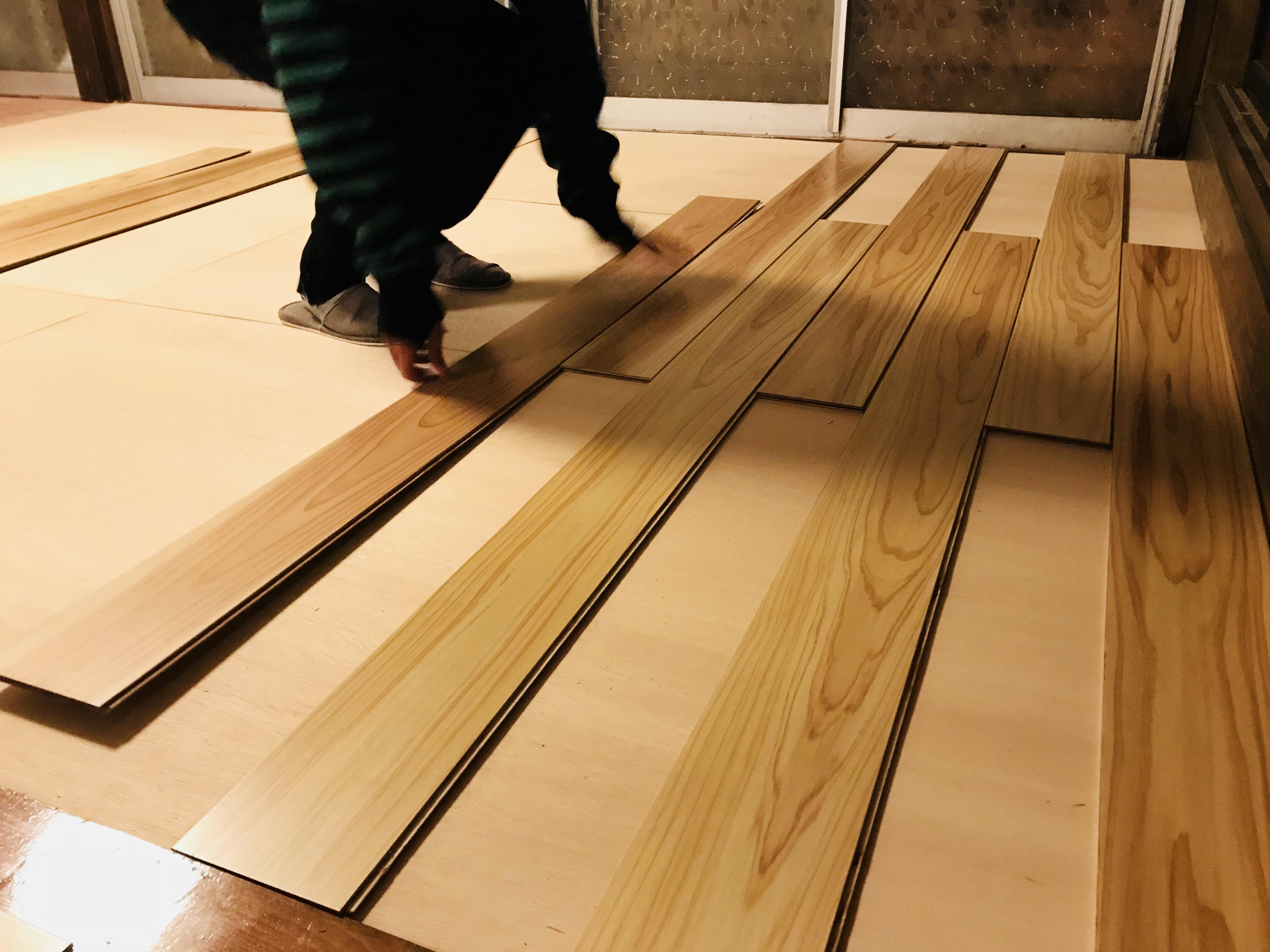 床の貼り替えをDIY