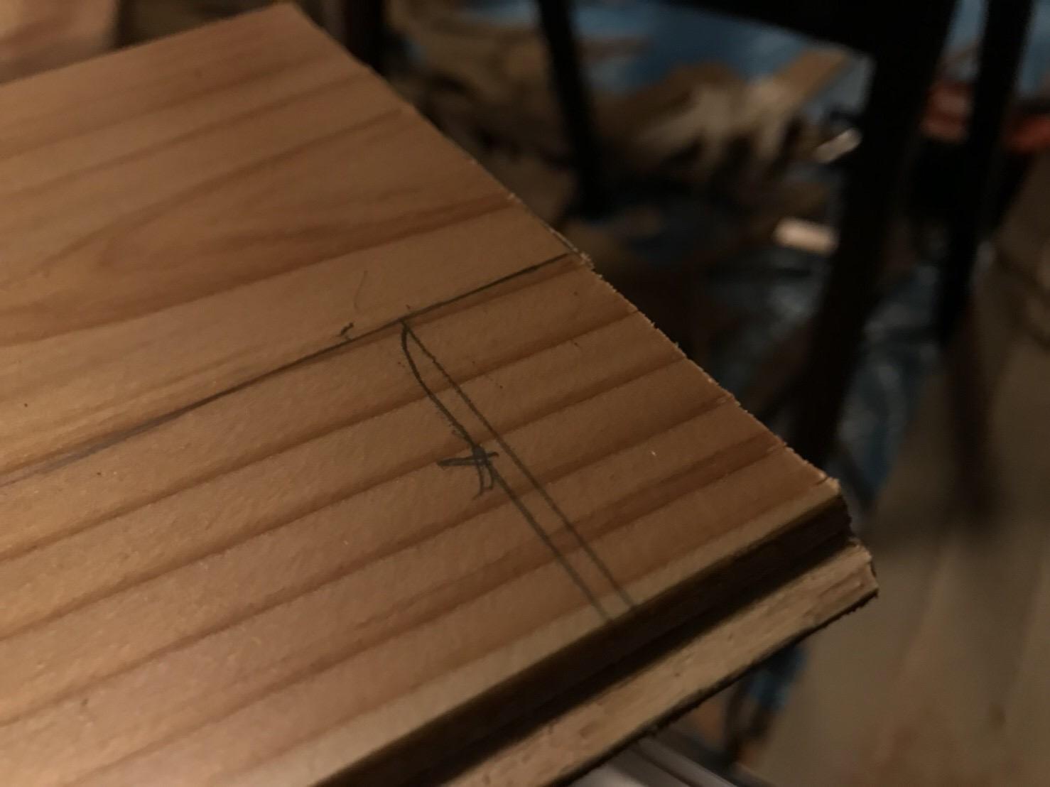 床材の切り欠き