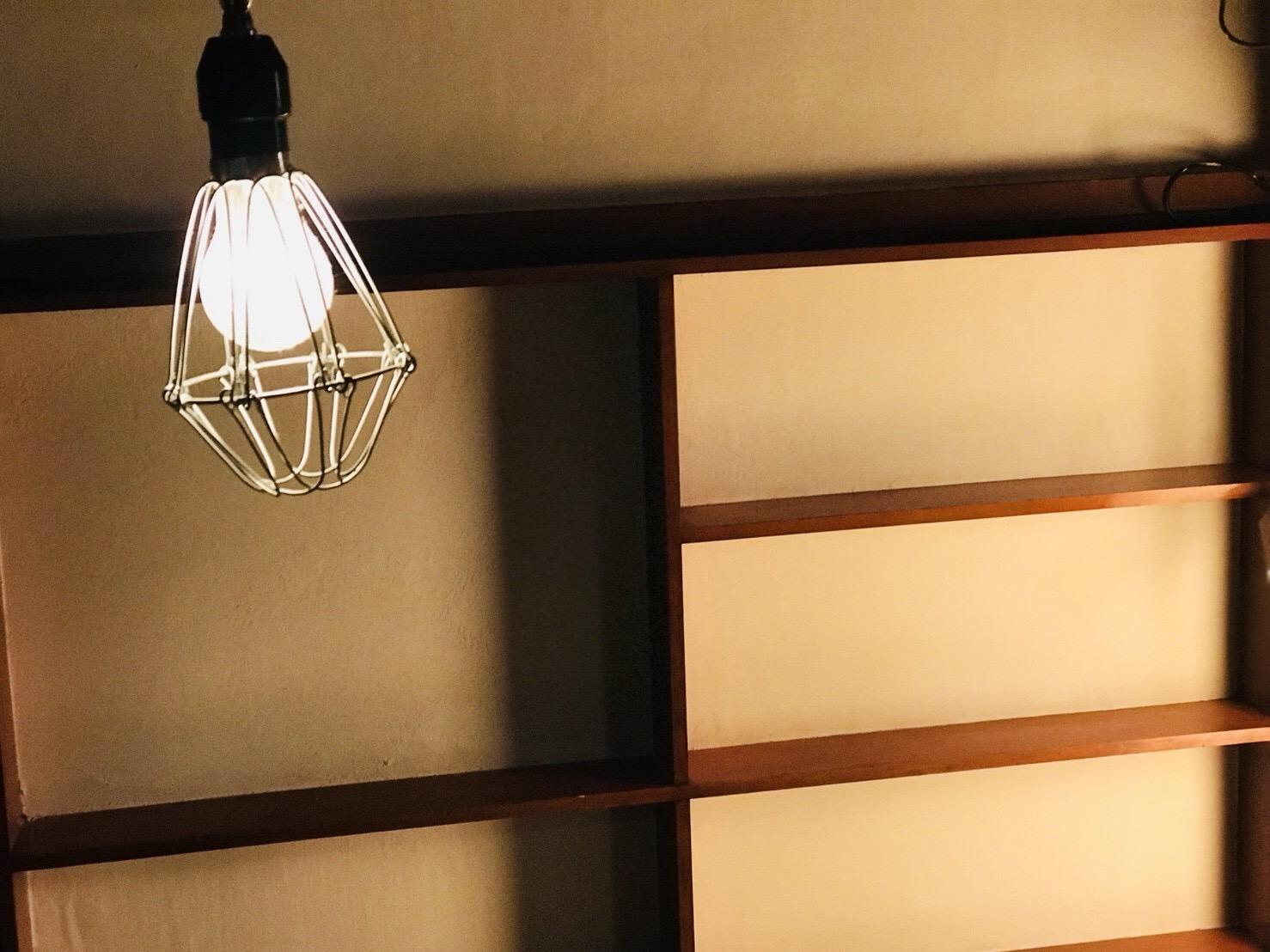 古民家の照明の取り替え