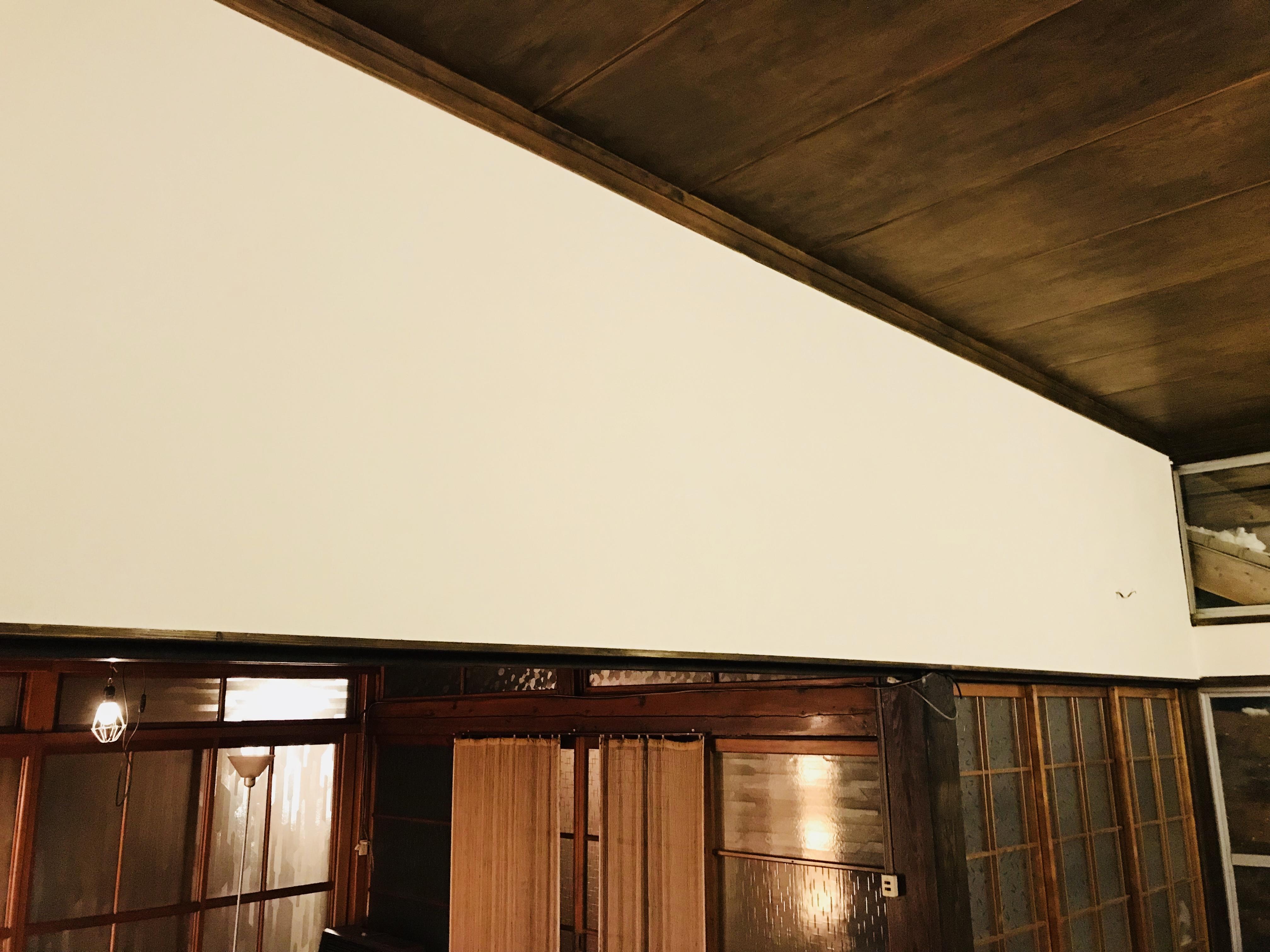 古民家の漆喰塗り