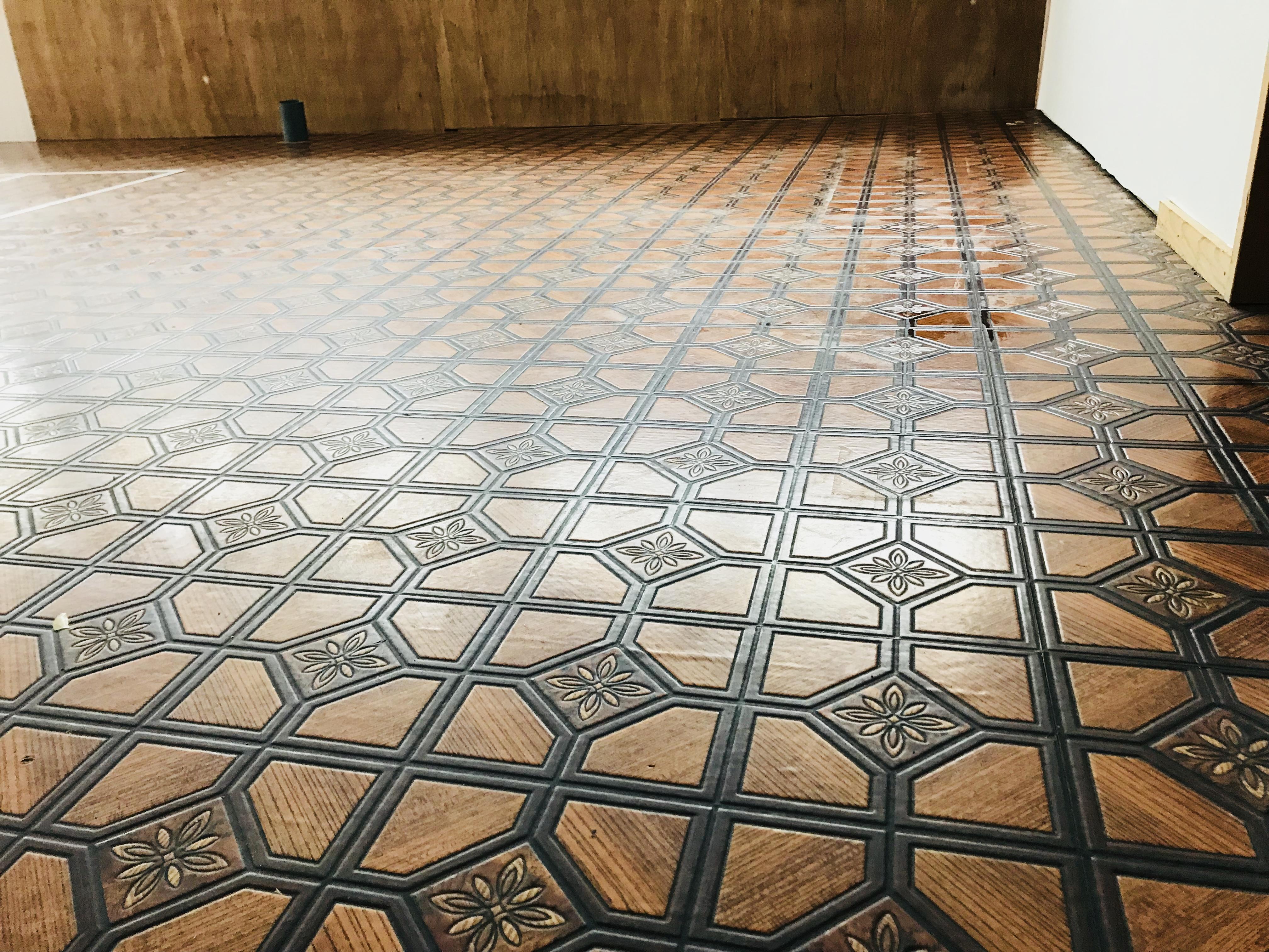 古民家のキッチンの床