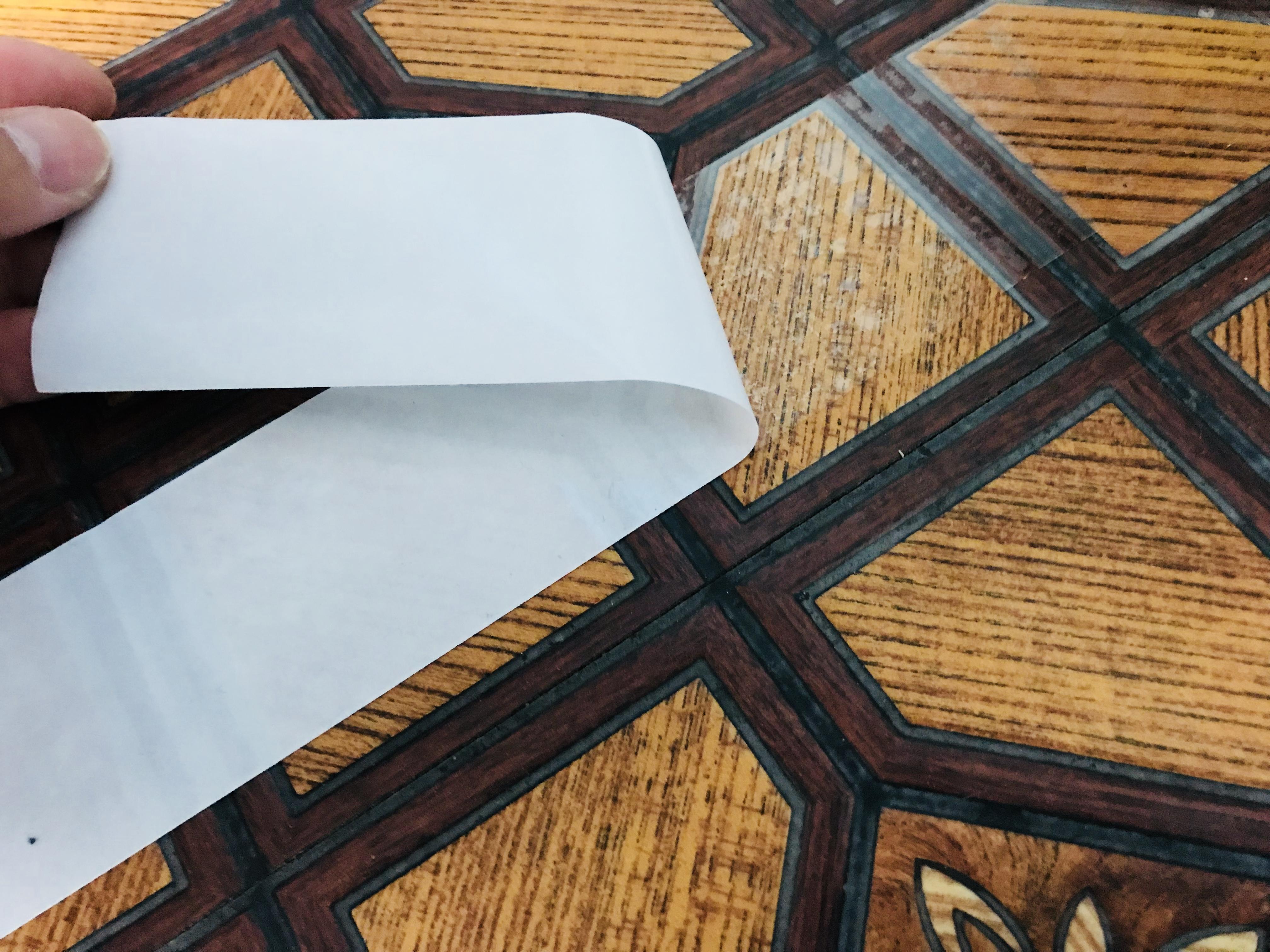 クッションフロアを両面テープで貼る