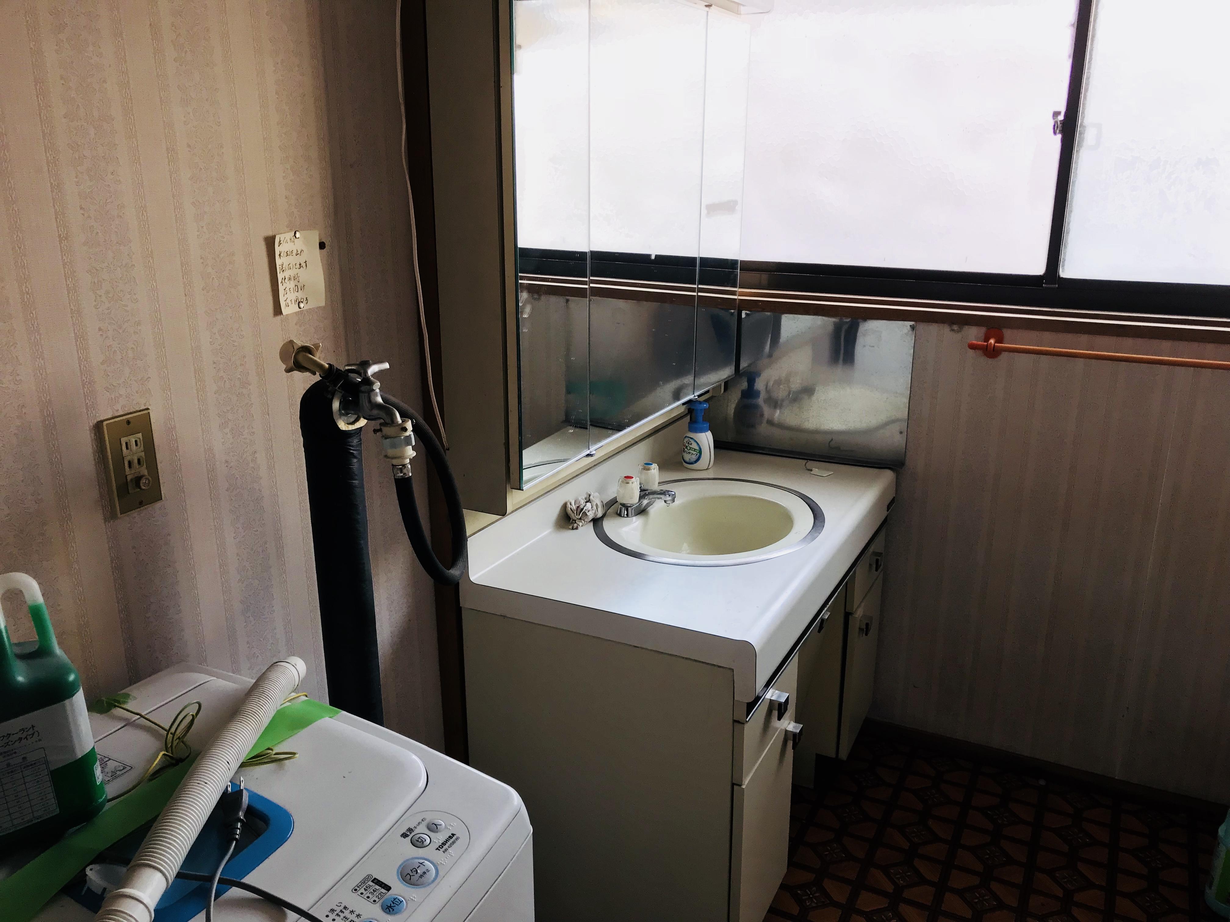 古民家の洗面化粧台
