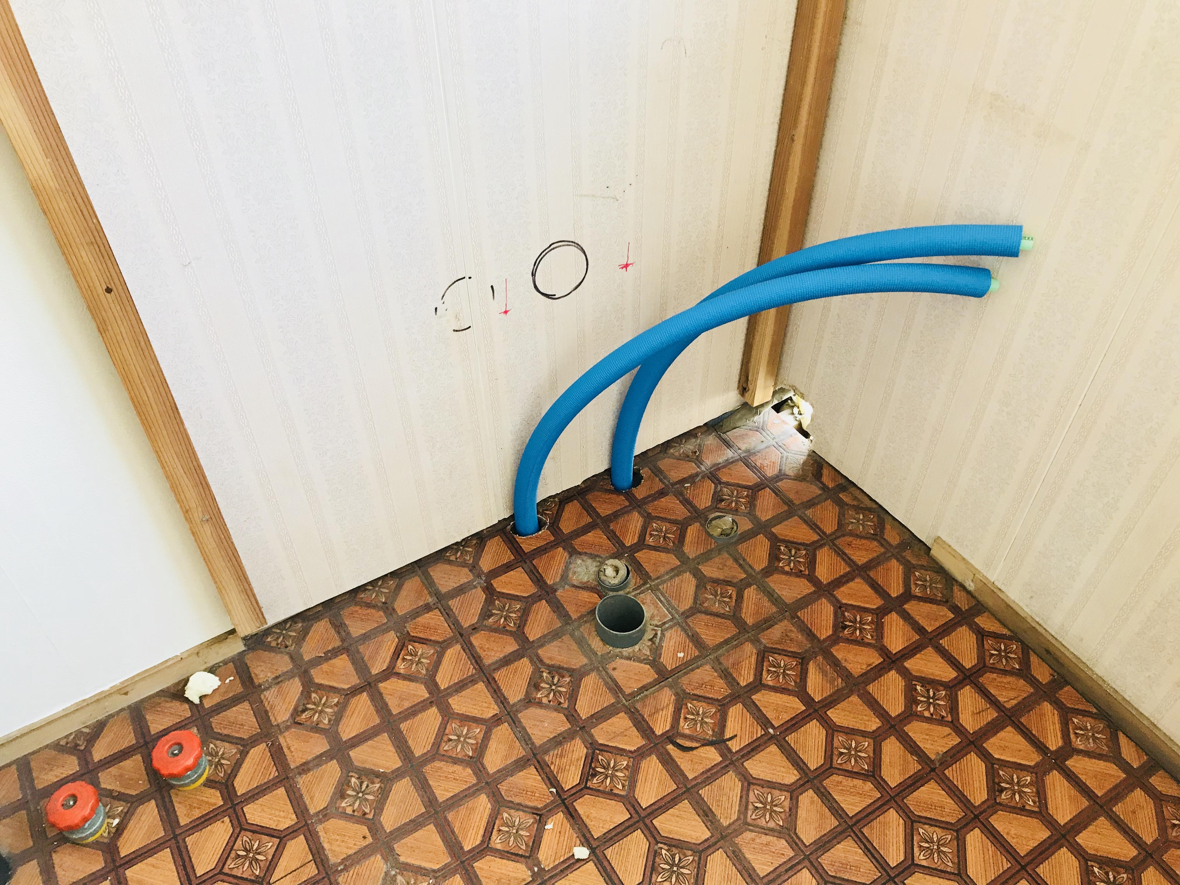古民家の洗面所のリフォーム