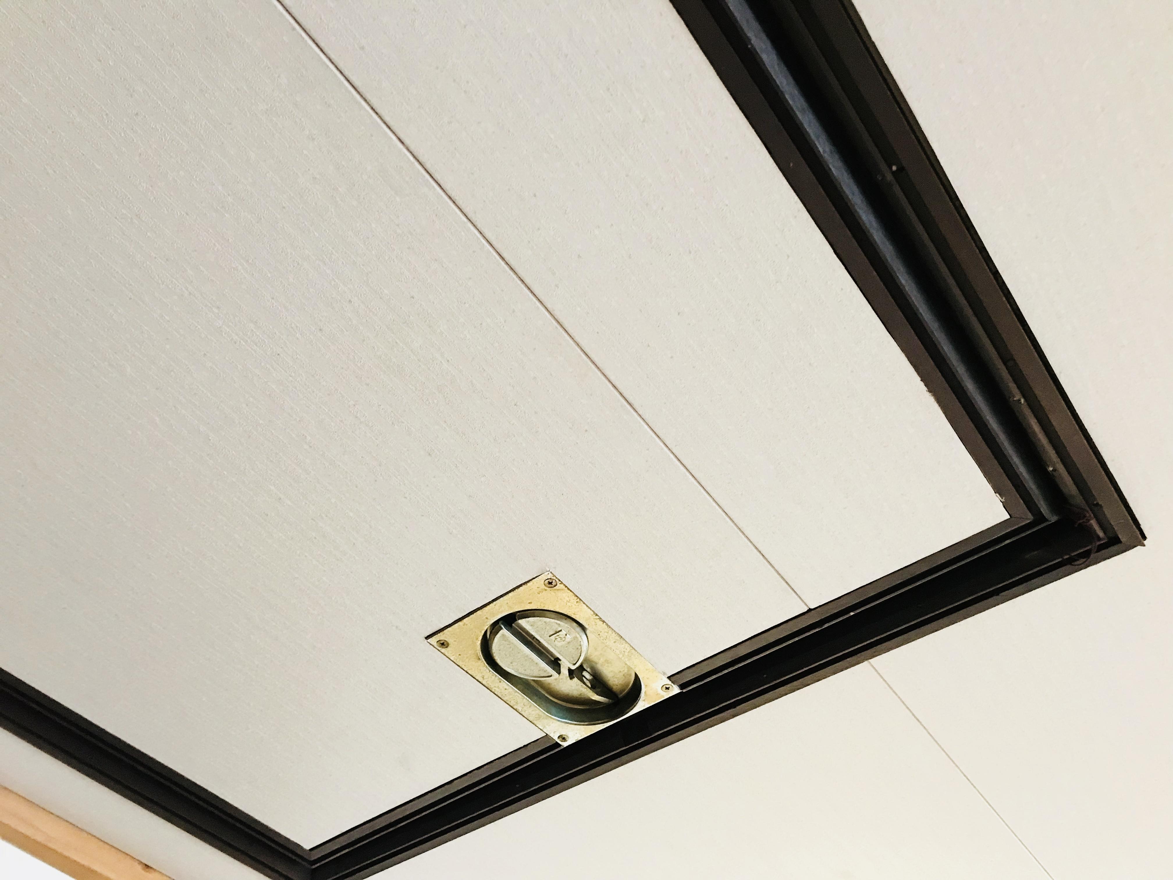 化粧合板を天井に貼る