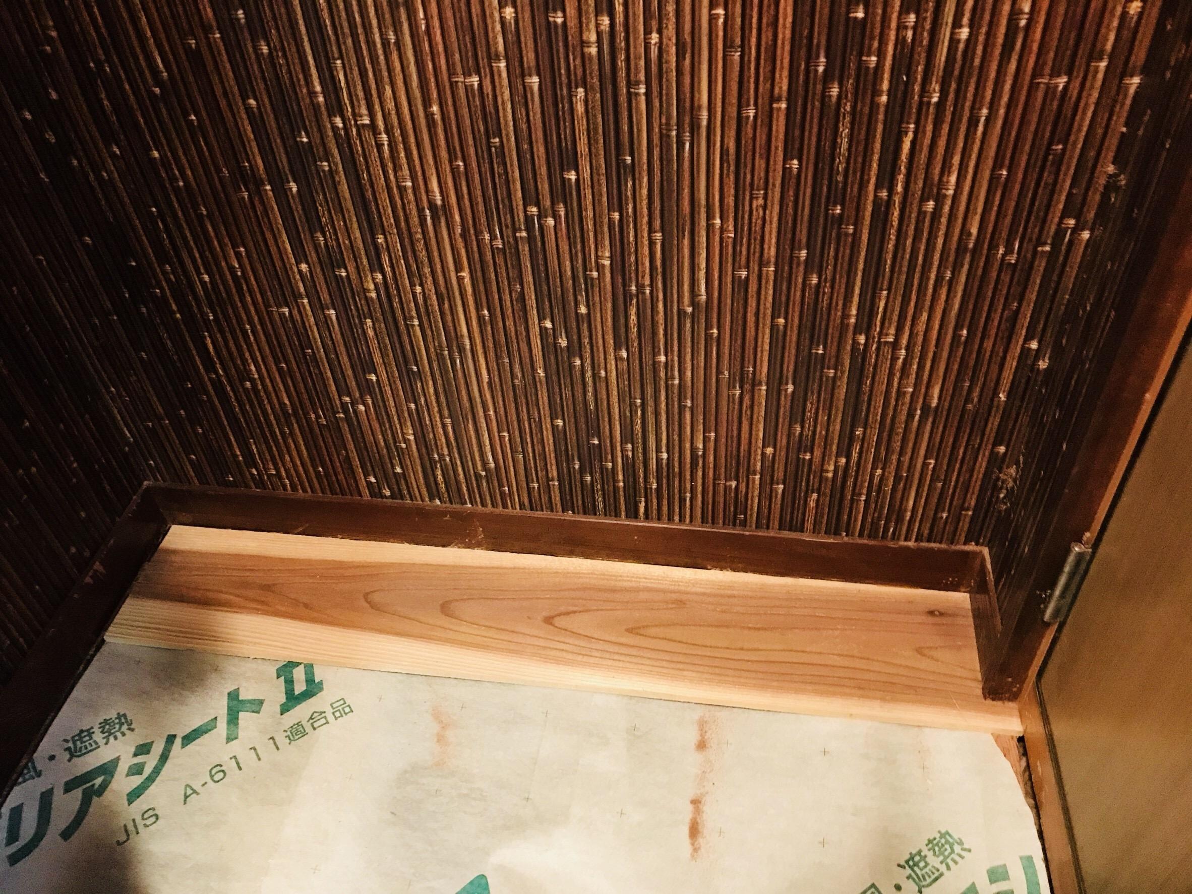 古民家の床板の貼り替え