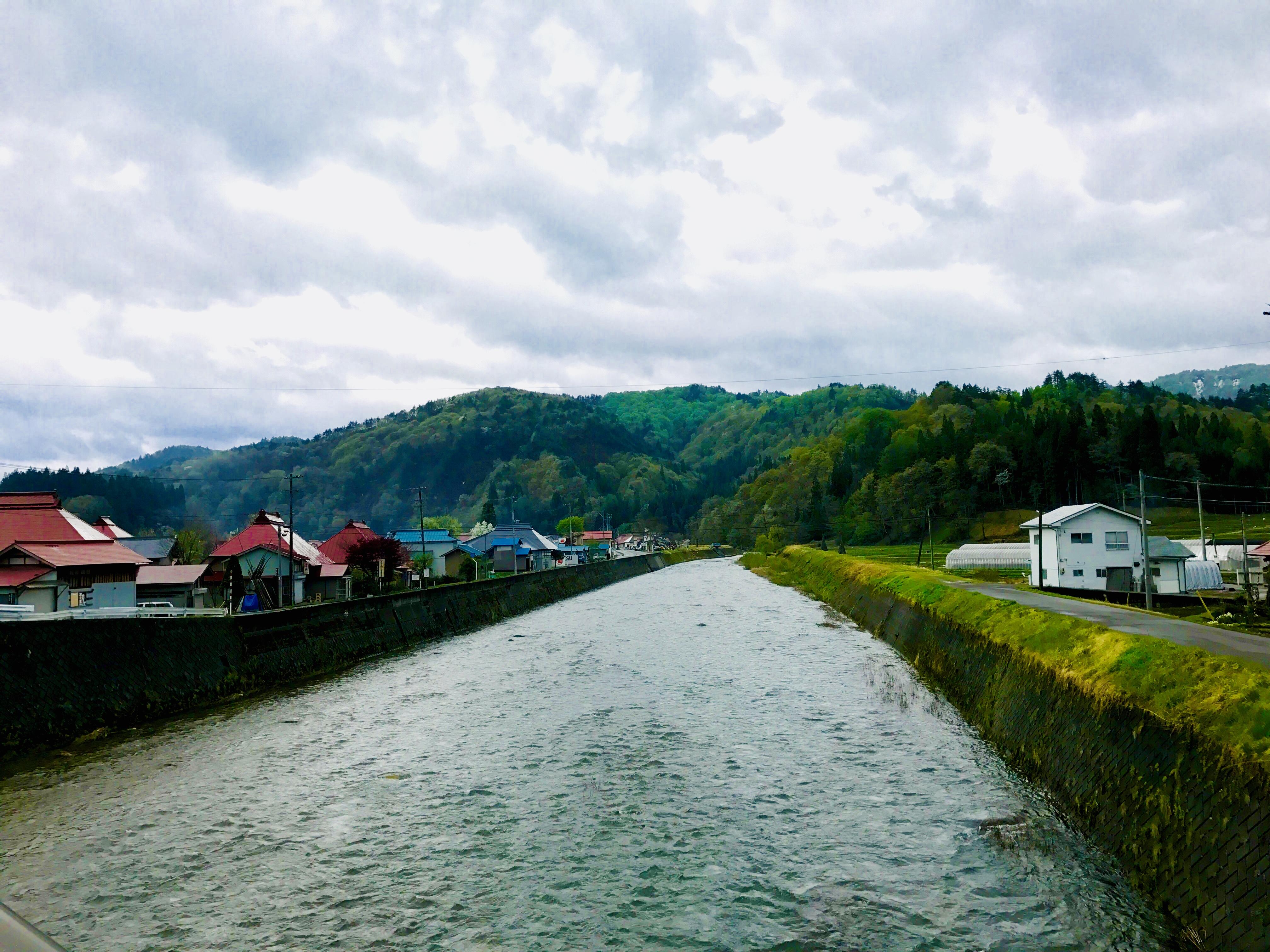 野尻川の鮎釣り