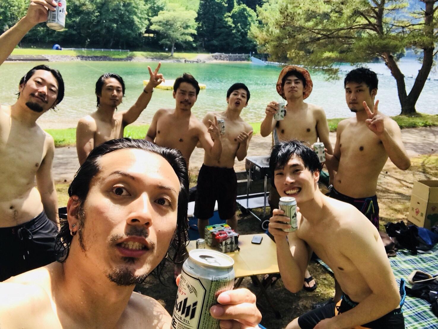 沼沢湖で湖水浴とバーベキュー