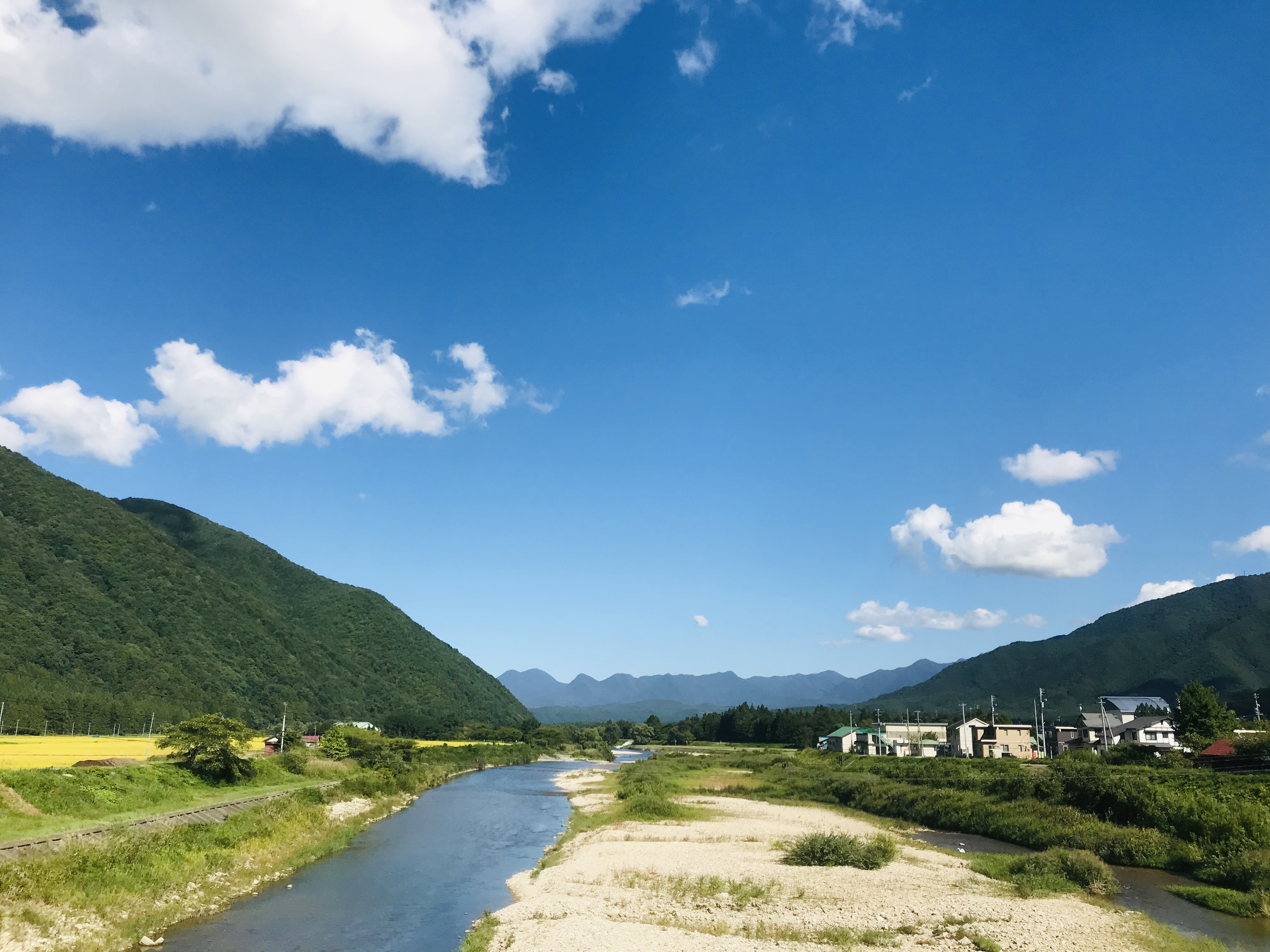 会津田島の風景