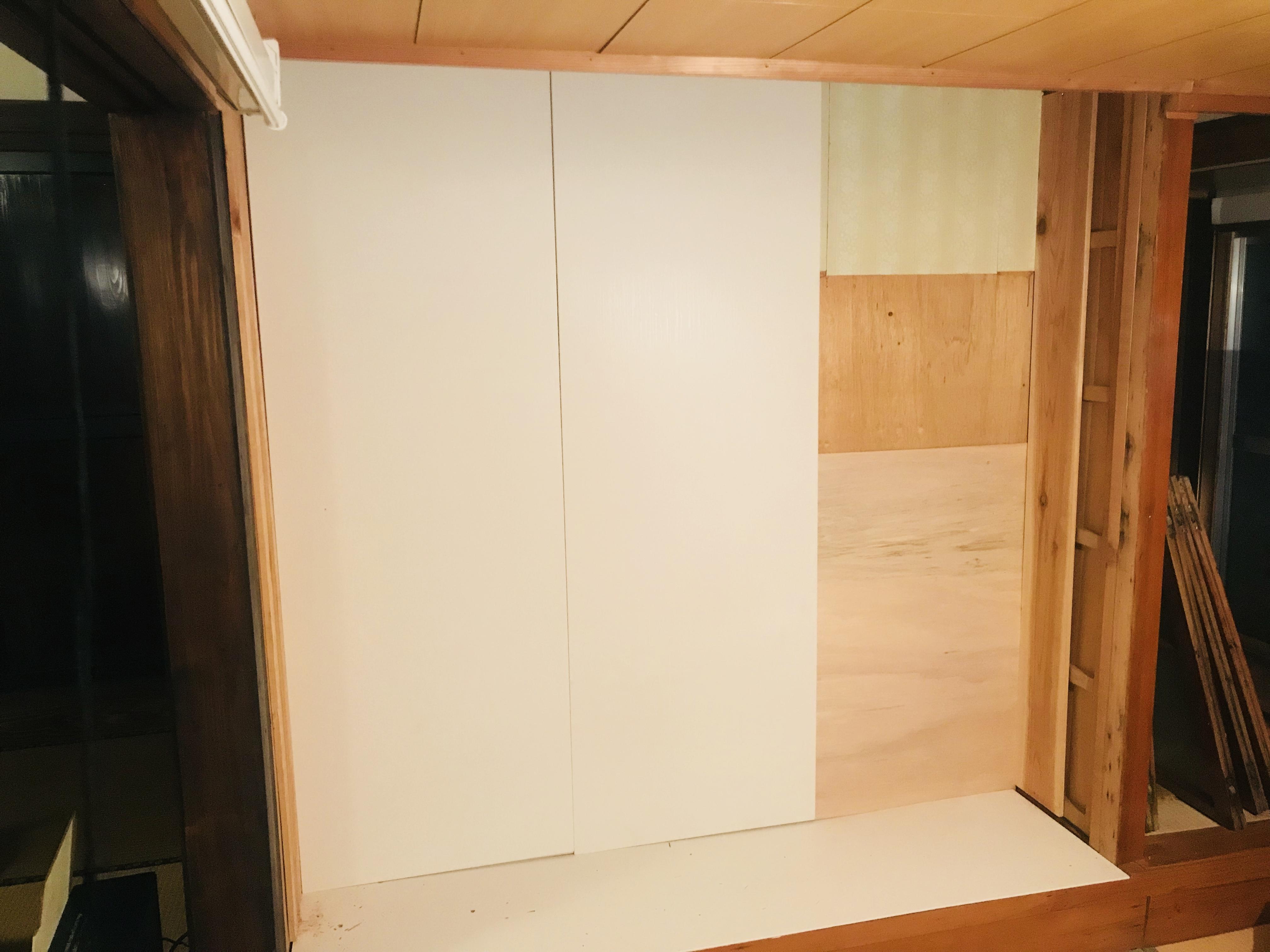 古民家にDIYで本棚を作る
