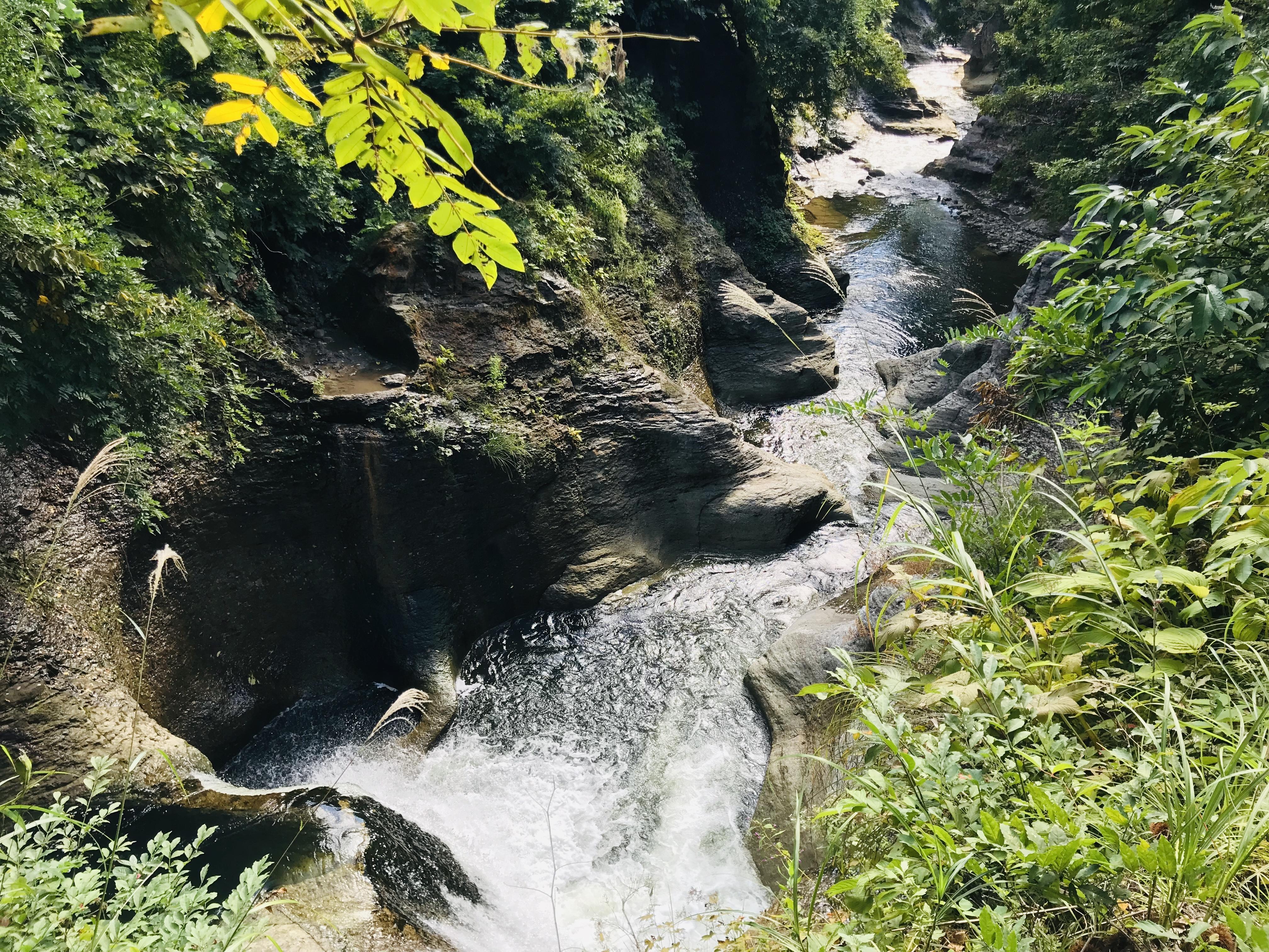 滝沢川のおう穴群