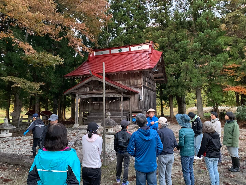福島県昭和村で自然散策