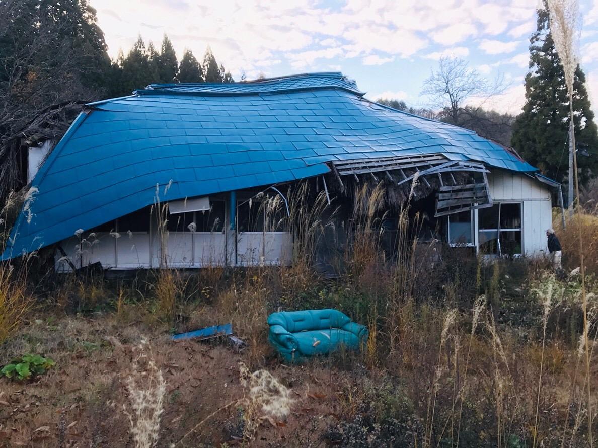 福島県昭和村 雪 廃集落 空き家