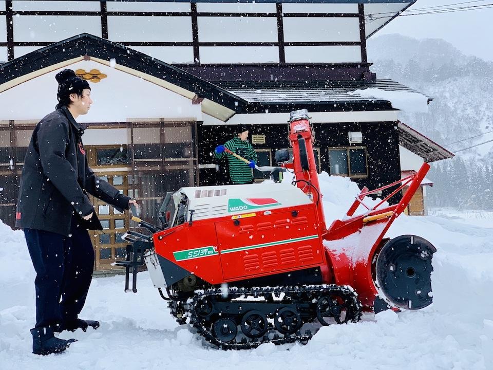 安全な雪かきの方法