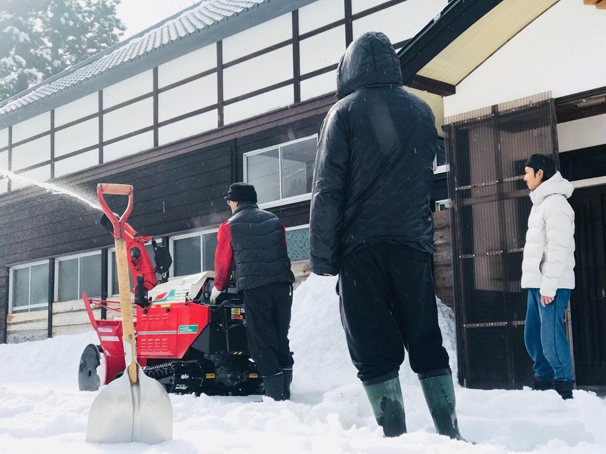 除雪機のレクチャー