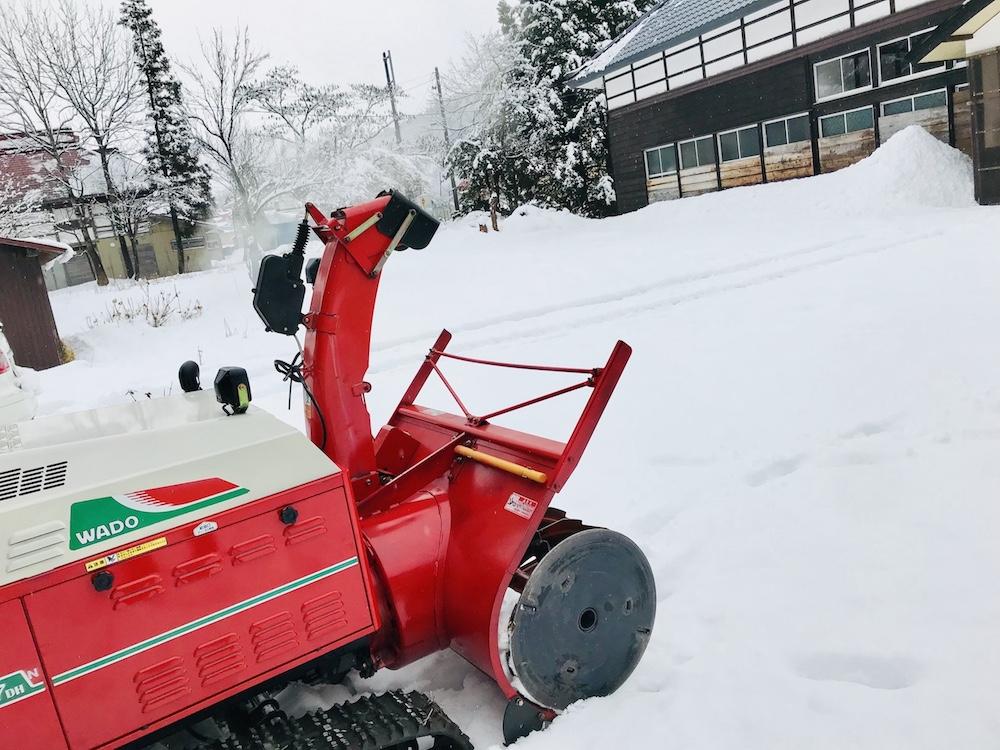 除雪機の使い方