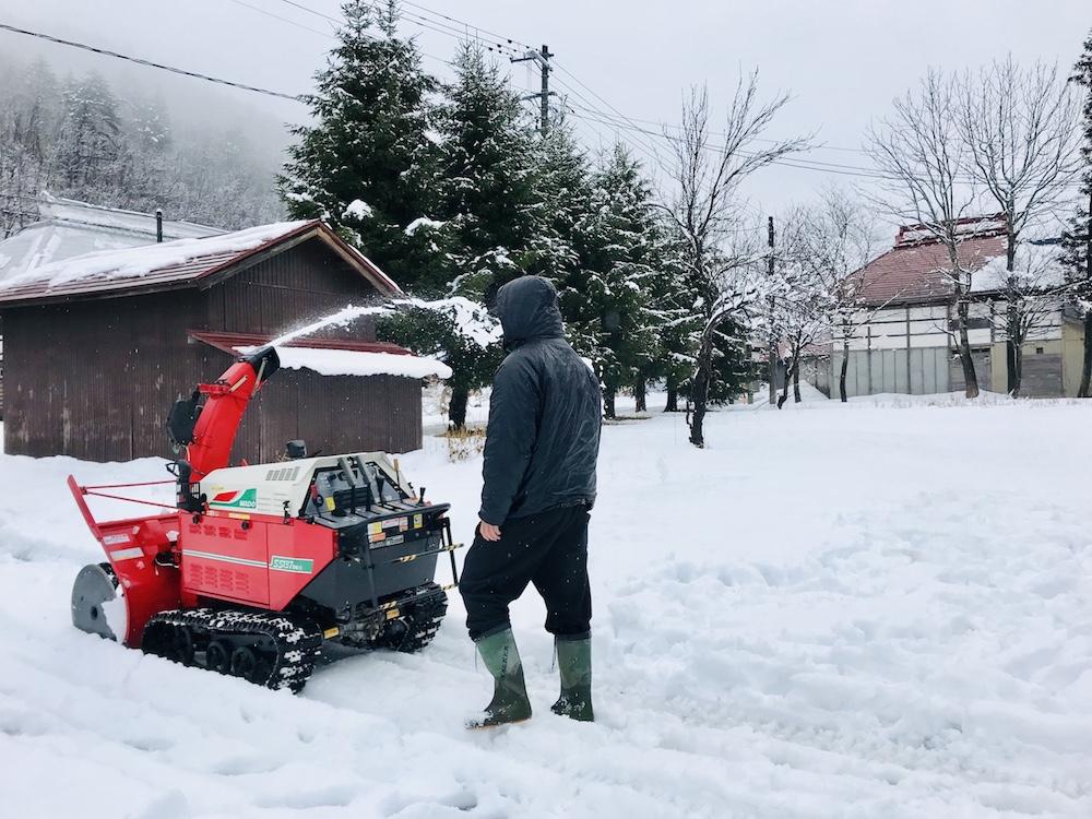 初めての除雪機