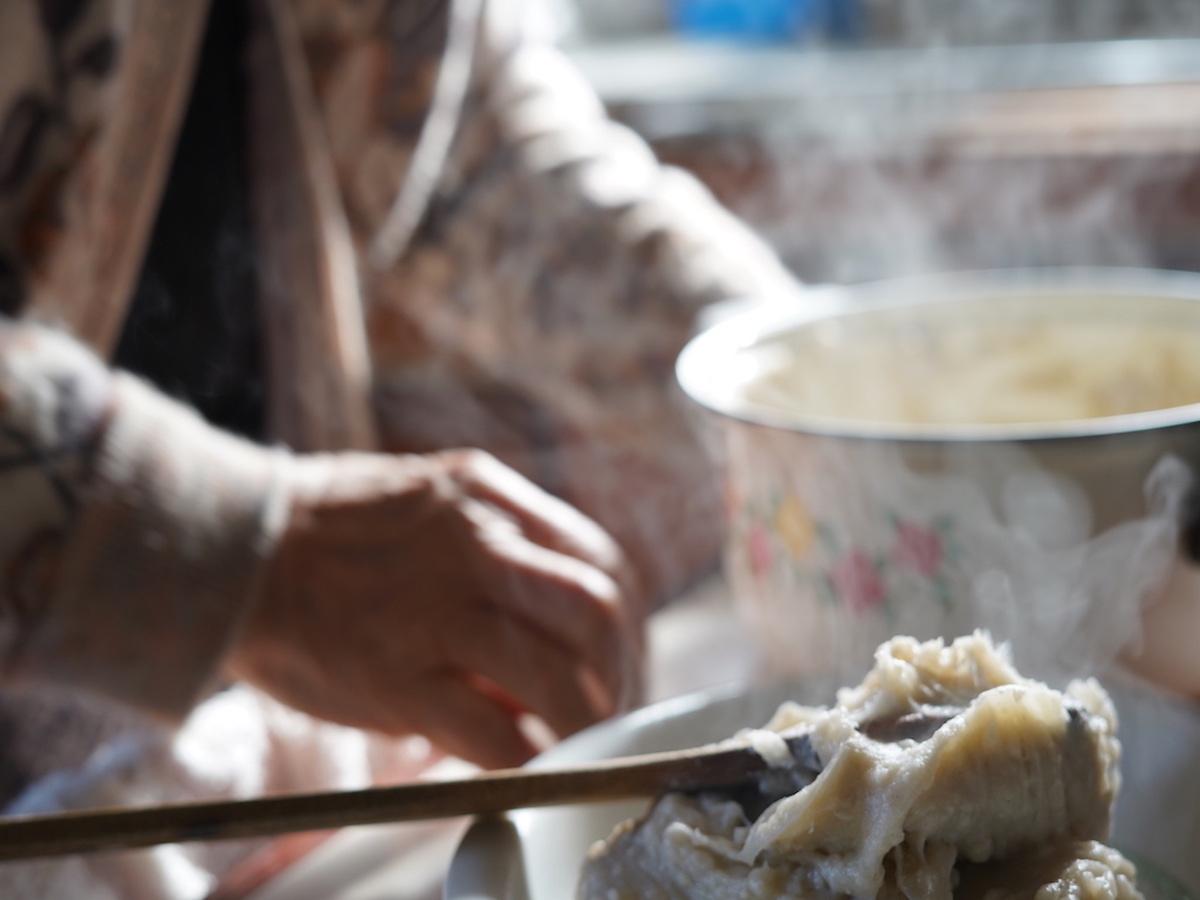 田舎の料理体験