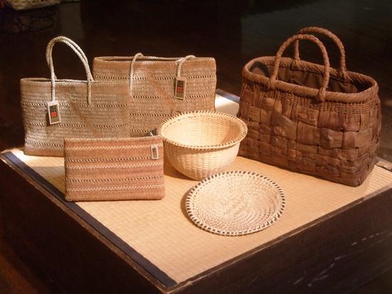 奥会津の編み組細工