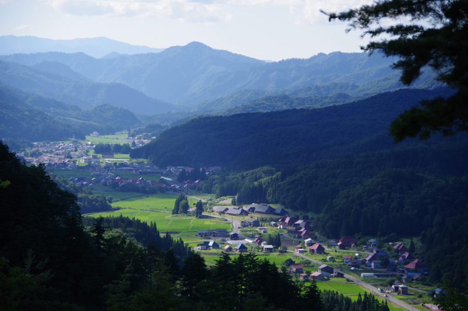 昭和村の絶景