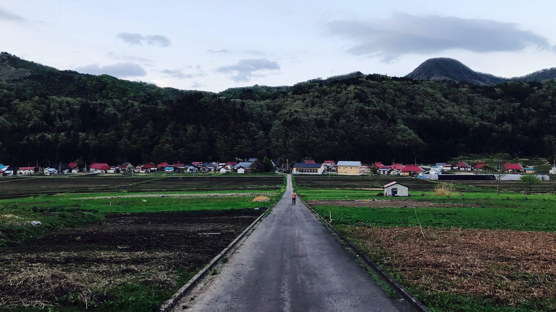 福島県昭和村の風景