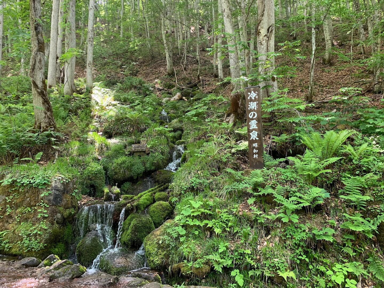 昭和村の冷湖の霊泉