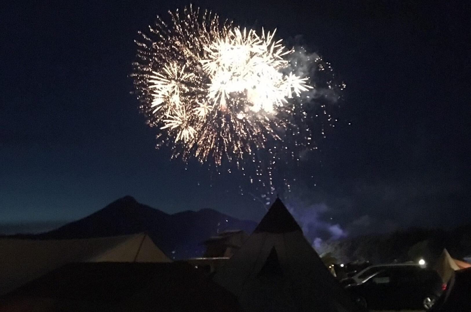 GOOUTCAMPの花火