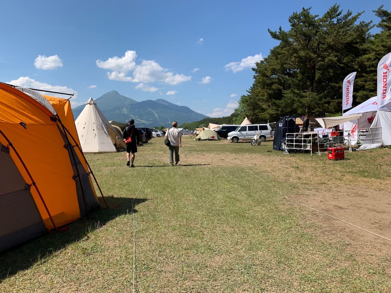 猪苗代湖のキャンプフェス