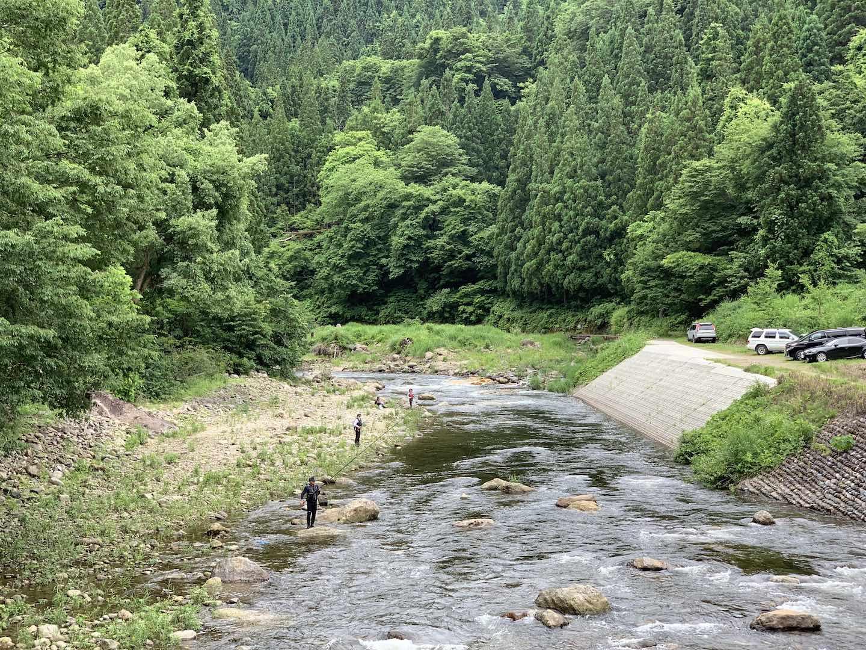 野尻川の鮎釣り解禁