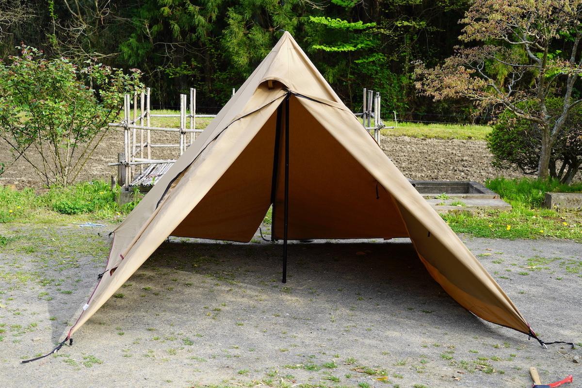 テントの張り方