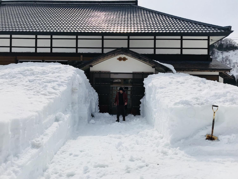 豪雪地帯の積雪
