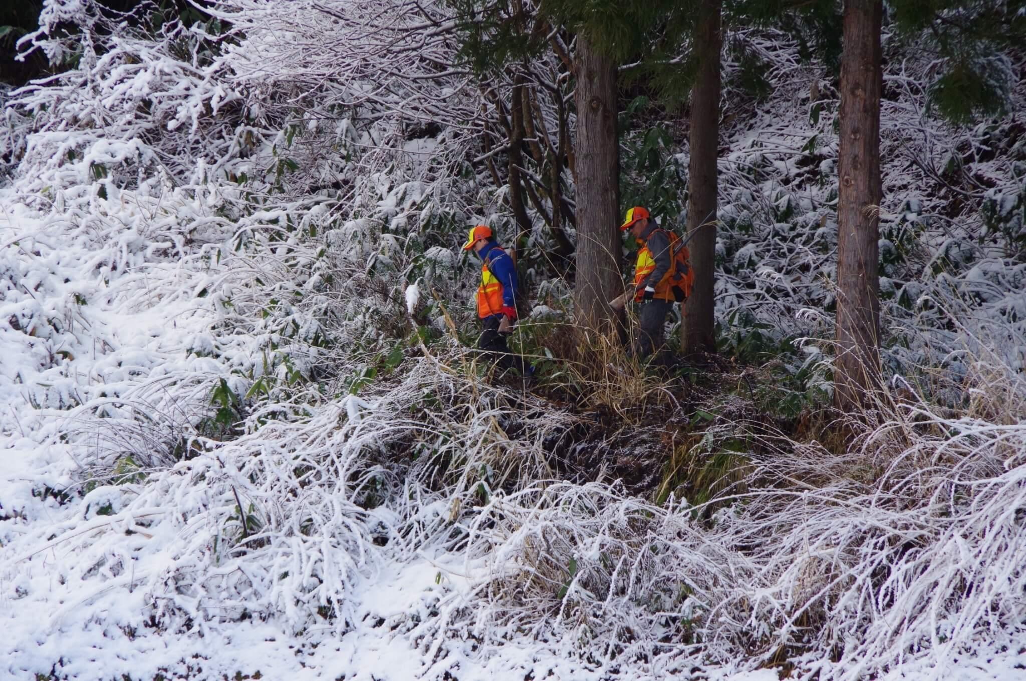 福島県昭和村の猟師の姿