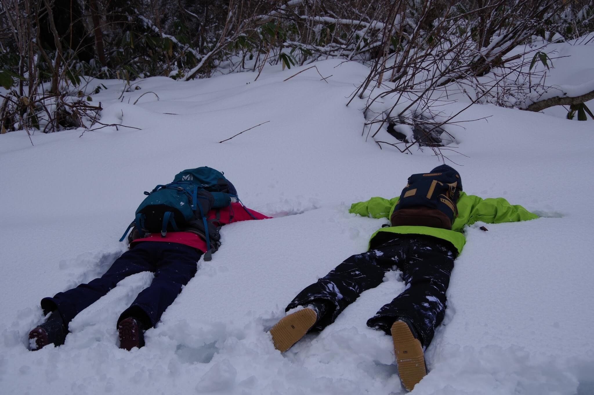 雪山散策を福島県で
