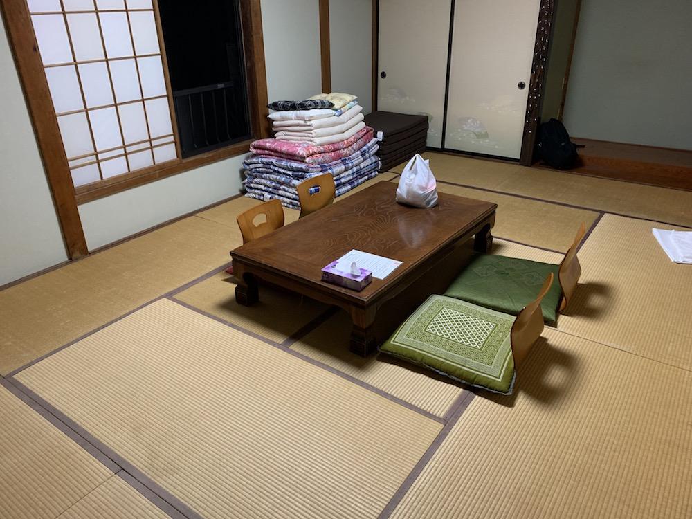 ゲストハウス山楽の宿泊部屋