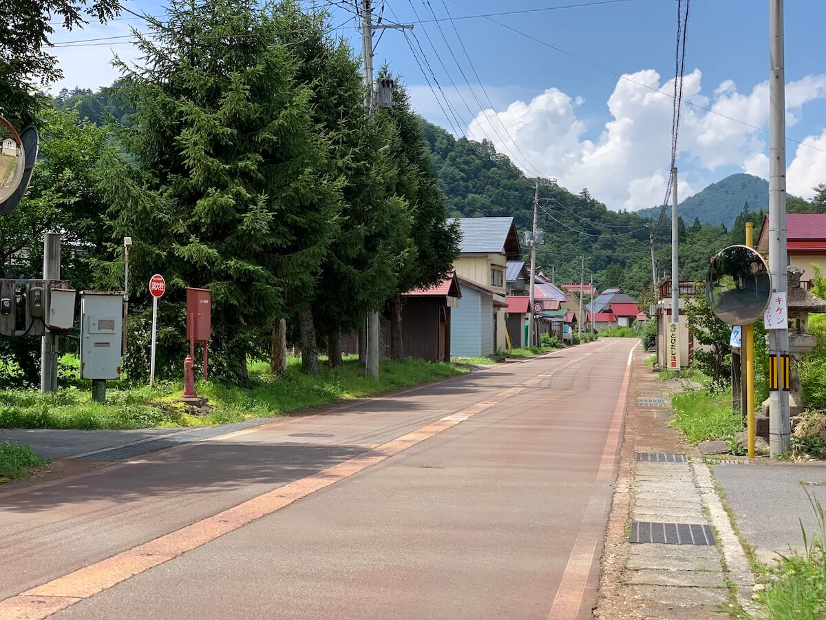 昭和村の風景