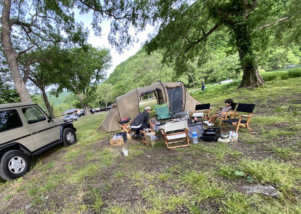 バス釣りに好アクセス! 桧原湖 早稲沢浜キャンプ場でのキャンプ。