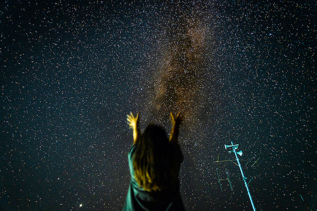 流星群の写真