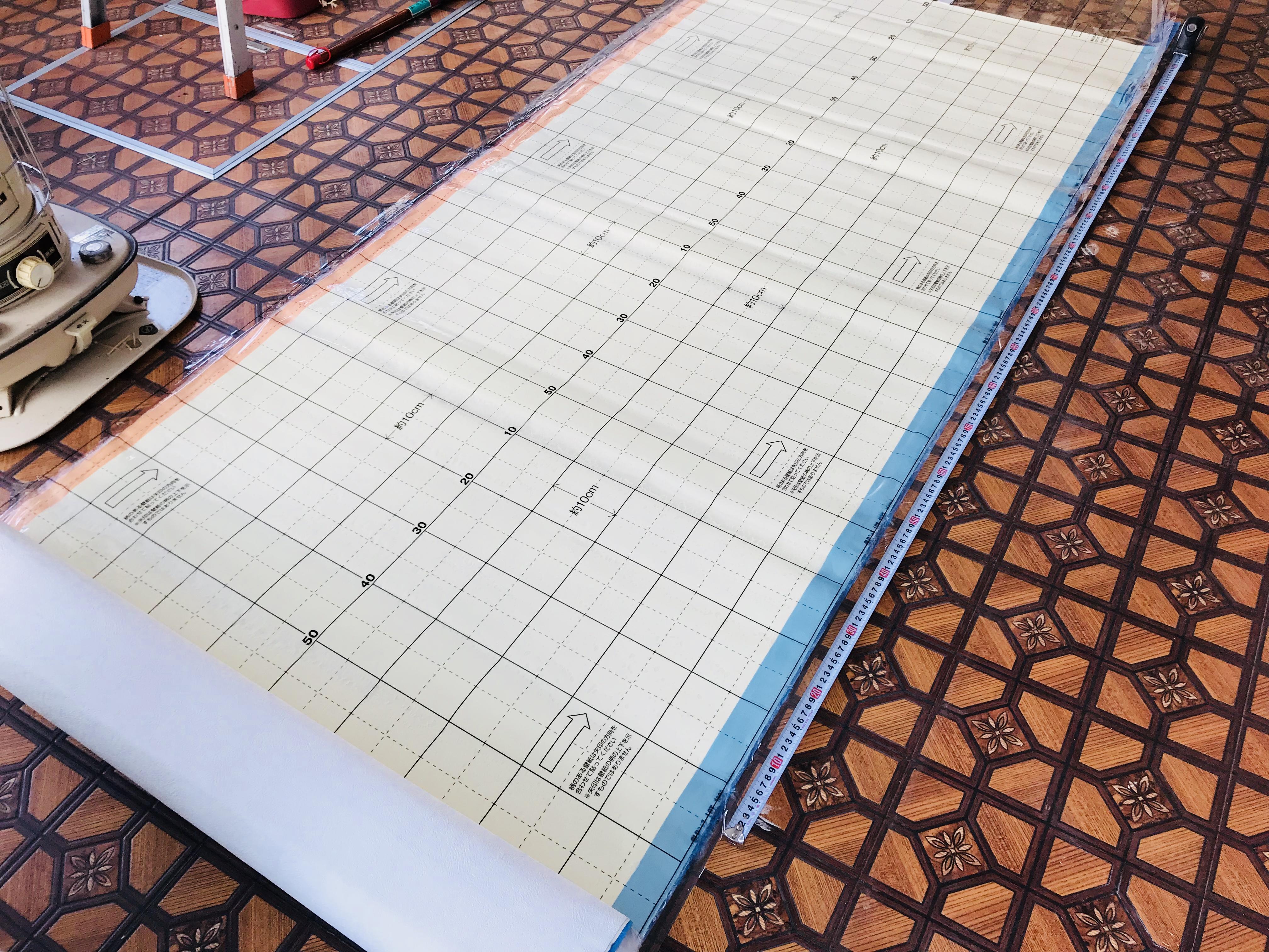 のり付き壁紙を使わずに長期間放置。